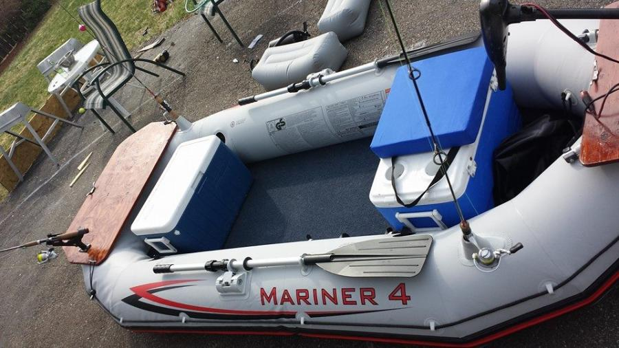 Update Intex Mariner 4 Little Vinyl Boat Project