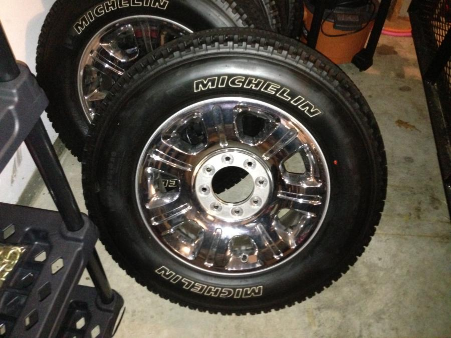 "FS 2013 Ford F250 Super Duty OEM 20"" Chrome Rims and Tires"