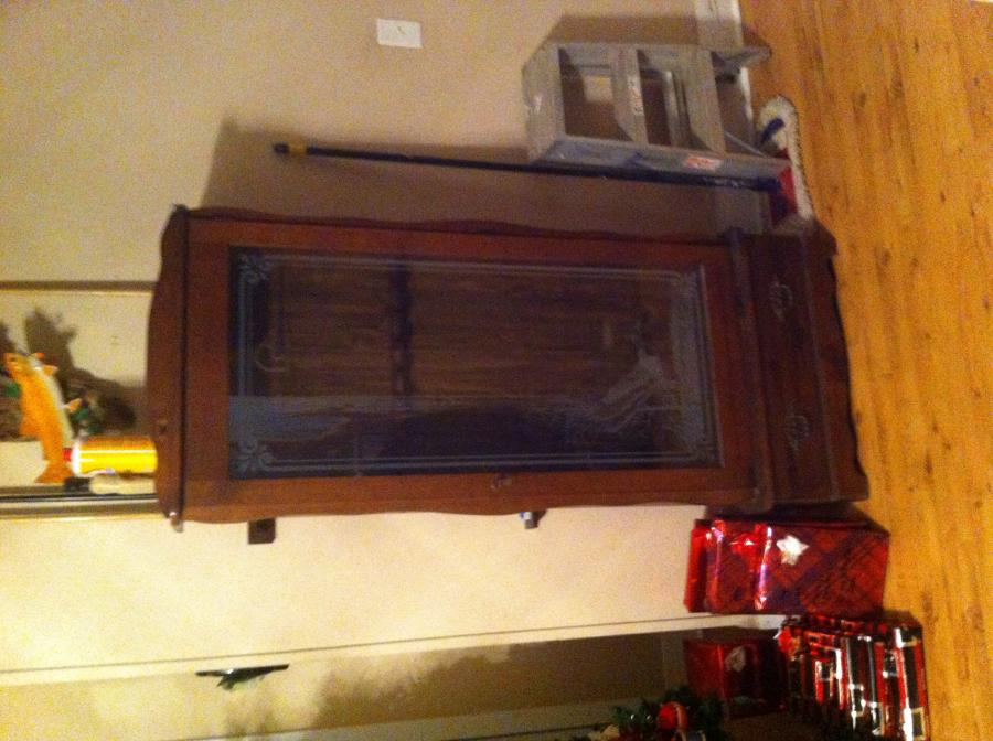 Wood gun cabinet for sale