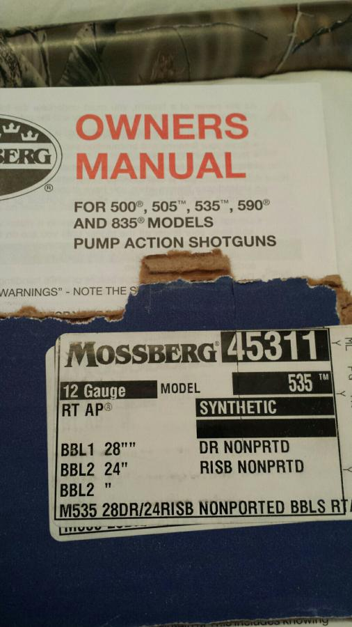 WTT or WTS: Mossberg Realtree AP 535 Deer/Turkey for