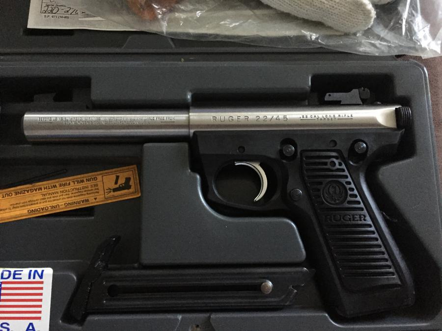For Sale Ruger 22 45 Target Stainless Bull Barrel 5 5 Quot 22lr